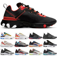 Wholesale bright boots for sale - Group buy 55 React Element Running Shoes For Men Women Bred Bright Green Triple Black Tour Yellow Mens Trainers Sports Sneakers Runner Size