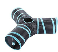 Wholesale tunnel tube online - Collapsible Pet Cat Tunnel Premium Three Way Extensible Collapsible Cat Tunnel for Cat Puppy Rabbit Toy Tubes Tunnels