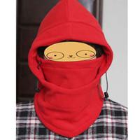 черная фиолетовая маска оптовых-Face Red/Black/Dark Gray/Light Gray/Purple/Blue Mask Thermal Cup Fleece Hood Wind Winter Stopper Beanies Out Door comfortable