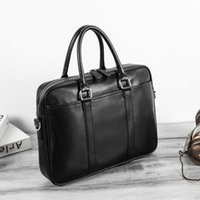 Wholesale briefcase big for sale - Group buy 2020 single men s diagonal Hand briefcase Hand shoulder shoulder business hand large capacity Business Men s bag big bag
