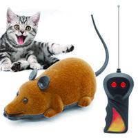 novedad ratones juguetes al por mayor-Mouse Toys Inalámbrico RC Ratones Cat Toys Control Remoto Falso Ratón Novedad RC Cat Funny Playing Mouse Toys Para Gatos