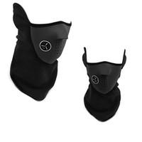 yüz eşarp kış toptan satış-Airsoft Sıcak Polar Bisiklet Yarım Yüz Maskesi Kapak Yüz Hood Koruma Bisiklet Kayak Spor Açık Kış Boyun Guard Eşarp Sıcak Maske