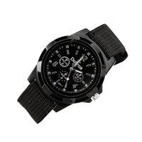 relógios trançados venda por atacado-Moda masculina Esporte Trançado Lona Relógios de Pulso Analógico Relógio de Pulso relogio masculino causal relogio masculino erkek kol saati
