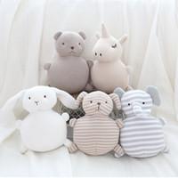 bej oyuncak ayı toptan satış-18.5 * 13.5 CM Yeni ev dekorasyon yaratıcı peluş oyuncak çan örme yün bebek bakımı pamuk