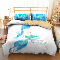 Wholesale sea print fabric for sale - Group buy A Bedding Set D Printed Duvet Cover Bed Set Sea Mermaid Home Textiles for Adults Bedclothes with Pillowcase MRY32