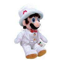 vestidos de roupas brancas venda por atacado-10 / Lot 23-28 CM Super Mario Sentado Pose Com Branco Vestido Odyssey Cosplay Donkey Diddy Kong Plush Brinquedos de Pelúcia Varejo