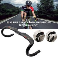 yol bisikletleri için karbon sapları toptan satış-EC90 Karbon Yol Bisiklet Gidon 31.8 Tam Karbon Fiber Bisiklet Kolu Bar Bırak Bar Bisiklet Parçaları
