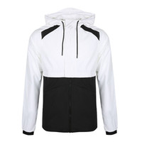 пальто продажа бесплатная доставка оптовых-Mens Designer Jacket Running Brand Jacket Thin Windbreaker Hot Sale Sports Hooded Coats Male Sportwears Free Shipping