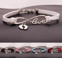 Wholesale ankle cuffs chains for sale - Group buy Vintage Silver LOVE Infinity Ankle Feet Bracelet Charms Bangle For Men Women Mixed Color Velvet Rope Cuff Bracelets Jewelry Handcraft Gift