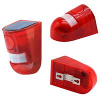 Wholesale outdoor sensor indoor alarm resale online - LED outdoor strobe Light Outdoor Alarm Lamp db Warning Sound led Red Light IP65 Waterproof Motion Sensor Caution Lights Wall Light