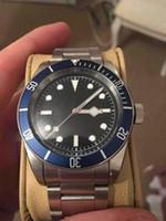 vendedor de cajas de relojes al por mayor-Hol seller Mejores relojes Automático Her1tage Black Bay Box Papeleo para hombre Relojes de hombre de calidad superior
