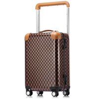 Wholesale travel rolling luggage resale online - Hot New Women Men Trolley luggage bags trolley suitcase mala de viagem con ruedas Rolling luggage bag on wheels vs travel bags