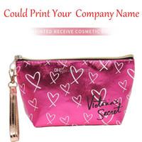 rosa baumwolltasche großhandel-Designer Pink Victoria-Secret Handtasche Taschen Designer-Taschen MINI Portable VS Kosmetiktasche Wasserdichte Polyester-Baumwolltaschen für Frauen