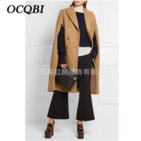 Mode Mantel 2018 Zweireiher Zevrez Frauen Oberbekleidung Winter H Mantel mit Typ Mantel Umlegekragen Kamel zVjLqSUpGM