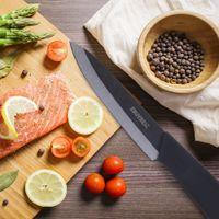 et bıçakları toptan satış-Mutfak Seramik Bıçaklar 3 4 5 6 Inç Şef Siyah Zirkonya Seramik Tek Bıçak Soyma Meyve Sebze Et Mutfak Pişirme Bıçak