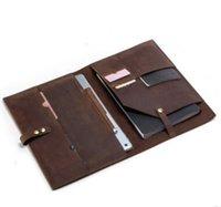 kartenhalter für handy großhandel-verrücktes Pferdekuh-Lederhandtasche des neuen Entwurfs für Ipad mit Pass-Kreditkarteninhabertelefontasche