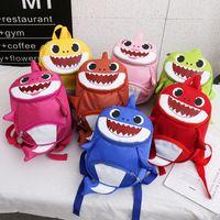 ingrosso zaini dei sacchetti del bambino-Zaino bambino Shark Kids Anti perso Zaini Cartoon School School Bags 3D Animal Kindergarten Borsa a tracolla Borsa da viaggio GGA2058