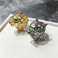 berühmter verlobungsring großhandel-Berühmte rose gold edelstahl liebe ringe für frau modeschmuck ringe männer tiger hochzeit ringe für weibliche frauen geschenk engagement