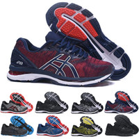 Wholesale shoe gel online - 2019 GEL Nimbus Stability Breathable running shoes for men black white blue red mens trainer fashion sports sneakers runner