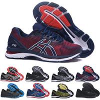 hombres zapatillas de gel al por mayor-ASICS 2019 GEL-Nimbus 20 Estabilidad Zapatillas de correr transpirables para hombres negro blanco azul rojo para hombre entrenador zapatillas deportivas de moda corredor