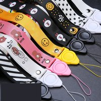 Wholesale smile cell phone for sale - Group buy Lanyard NECK STRAP Cartoon Detachable Rotating FOR CELL PHONE Certificate Love Smile Bear Rabbit Zebra Dot Chick