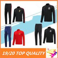 ingrosso allenamento messicano-2019 2020 Belgio tuta piena tuta Zipper calcio Survêtement 19 20 Spagna Messico maollot de tuta da calcio per allenamento giacca