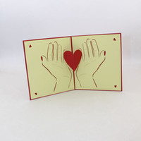 Wholesale teachers day cards resale online - 3D Heart Greeting Cards Mother s Day Teacher Gift for Mother Vintage Handmade Valentine s Day