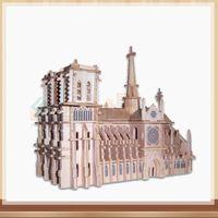 Wholesale landscape puzzle resale online - Notre Dame DE Paris Piece Building Blocks The World Famous Building Landscape Paper Puzzles for Adult DIY Attractions Jigsaw Puzzle Toys