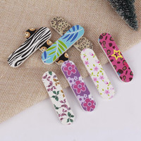Wholesale paper sticks diy for sale - Group buy Nail Polishing Tool Manicure Kit Wood EVA Nail Files DIY Fingernail Trimming Art Nail Sanding Paper Filing Sticks F3427