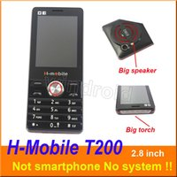 Wholesale band camera mp3 resale online - H Mobile T200 inch Cheapest cheap Mobile Phone Dual Sim Quad Band G GSM Phone Unlocked with big torch speaker whats app Free DHL