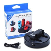Wholesale nintendo switch docks for sale - Group buy Charging Dock For Nintendo Switch Joy con With USB Ports With Indicator Light Charging Stand Base For Switch Gamepad