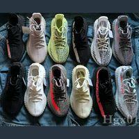 Wholesale best running shoes band resale online - 2019 best new V2 M Reflective designer mens sports running shoes zebra static black cream white sesame womens outdoor training with box