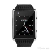 soporte de tarjeta sim wcdma al por mayor-X11 Android Reloj inteligente de cuatro núcleos SIM WCDMA Cámara Bluetooth Podómetro Pulsera inteligente Soporte GPS WIFI Posicionamiento Tarjeta SOS Reloj Reloj
