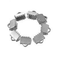 extremo de cable hebilla de tapa al por mayor-10 Unids 13x8mm Cierres de Hebilla de Acero Inoxidable Conexión Para Collares Pulseras Broche Joyas DIY Accesorios Accesorios Ganchos