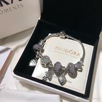 pulseras del encanto del manguito al por mayor-Pandora diseñador de joyas de lujo pulseras de las mujeres pulsera de acero inoxidable tornillo cuff bracciali regalo Bracciale de donna caja original
