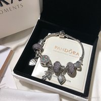 jóias âncoras de imitação venda por atacado-Pandora designer de luxo jóias mulheres pulseiras charme pulseira bracelete de aço inoxidável bracciali presente bracciale de donna caixa original