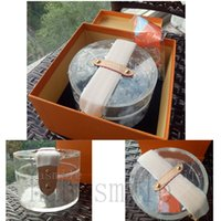 Wholesale clear cosmetics case resale online - top quality scott storage box designer transparent bags luxury women pvc jelly clear handbags luxury cosmetic case GI0203 gift boxes new
