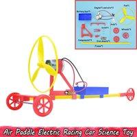 ingrosso pale elettriche-Air Paddle Electric Racing Car Scienza Esperimento Giocattoli FAI DA TE Creativo assemblaggio a mano fisica Giocattoli educativi Regali per i bambini