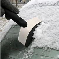 pá de limpeza venda por atacado-Pá de Neve de aço Inoxidável Pára Raspador de Gelo Remoção Ferramenta Limpa Veículo Do Carro Auto Remover Kit Limpador PPA50