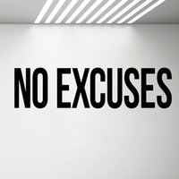 виниловые спортивные цитаты оптовых-No Excuses Self Motivation Quote Gym  Wall Decal Workout Fitness Wall Sticker Sport Home Gym Interior Decoration G502