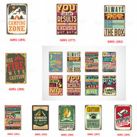 Wholesale metal signs home decor resale online - If You are Going Through Hell Keep Going Vintage Metal Sign iron Painting Tin Plaques Wall Art Poster Beer Bar Pub Club Home decor FFA2887