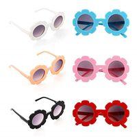 óculos de sol bonitos dos meninos venda por atacado-Crianças Óculos De Sol Crianças Bonito Girassol UV400 Óculos de Proteção Ao Ar Livre Da Praia Colorida Eyewear Meninos Meninas Unisex Óculos De Sol