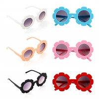 Wholesale cute round sunglasses resale online - Kids Sunglasses Children Cute Sunflower UV400 Protection Glasses Outdoor Beach Colorful Eyewear Boys Girls Unisex Sunglasses