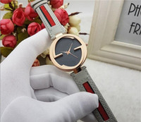 modelos vestidos de negro al por mayor-2019 nuevo modelo vestido reloj de la marca de fábrica de las mejores mujeres reloj de las mujeres de cuero reloj negro esfera de oro rosa reloj de cuarzo marca de relojes orologio