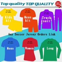 fatos de treino mans venda por atacado-Camisola de futebol 19 20 Camisas de futebol crianças mulher treino de treino camisola dos homens Jérsei de Futebol Clientes Ordem jaqueta de Ligação