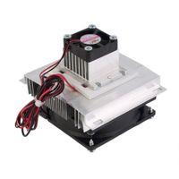 ingrosso componenti ic-Freeshipping Thermoelectric Peltier Cooler Refrigeration Semiconductor Kit sistema di raffreddamento Ventola di raffreddamento Kit componenti finiti