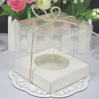 Wholesale dhl cupcakes resale online - DHL and retail Transparent pvc cake box cookie single cupcake box