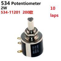 ingrosso potenziometro dritto-Di precisione multigiro wirewound potenziometro 534-11201 534 200R 2W