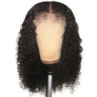 непринужденные парики афро-американцев оптовых-Вьющиеся 360 парик фронта шнурка предварительно сорванный с волосами младенца для волос афроамериканца бразилия Remy Glueless 360 полный парик шнурка человеческих волос
