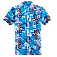 männchen beachwear großhandel-Mode Männlichen Strand Casual Polo Shirt Sommer Beachwear Kurzarm Hawaiihemd Männer Blumendruck Polo Shirts Plus Größe L-4XL